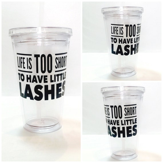 Little Lashes Clear Tumbler - 16 oz