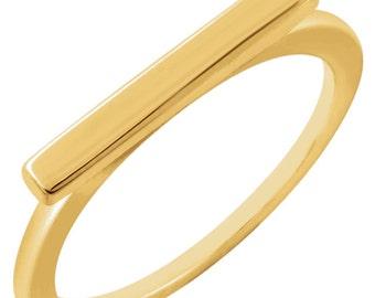 Bar Ring - 14kt Solid Gold
