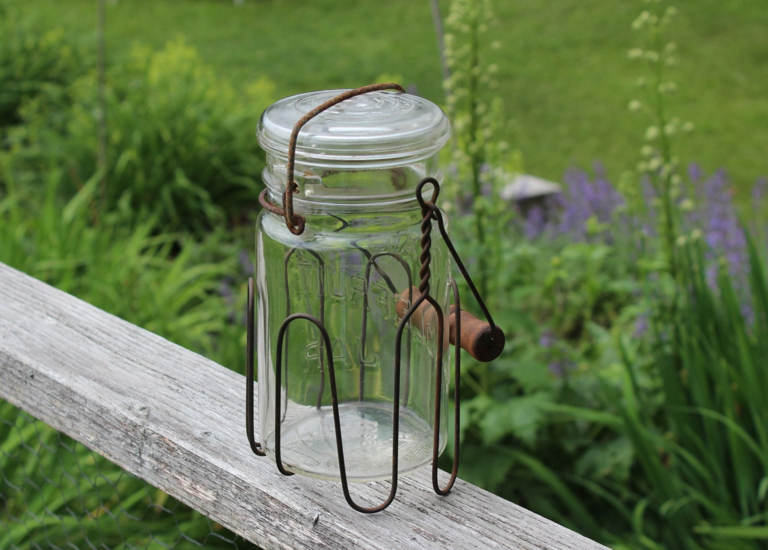 vintage wire mason jar holder canning jar holder. Black Bedroom Furniture Sets. Home Design Ideas