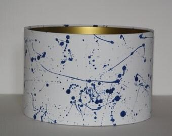 Drum Lampshade - Ink Splash /ceiling lampshade / table lamp/ modern lampshade.