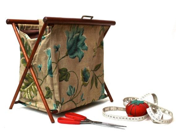 u00c9corce sac panier de couture tricot pliant bois cadre fil u00e9