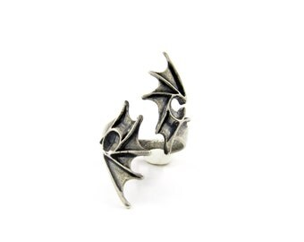 Dragon ring, Dragon jewelry, Game of Thrones jewelry, Occult ring, Fledermausflügel, Dragon wrap ring, Animal ring, Biker chic