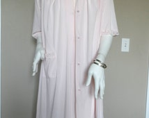 Vintage 1960's Pink Negligee & Peignoir * Size S . SHADOWLINE . Excellent Vintage Condition