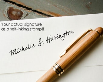 Signature Stamp, Your Signature on a Stamp, Self Inking Stamp, Personalized Stamp, Custom Stamp, Custom Letterhead, Custom Stationary