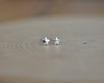 Itty Bitty Tiny Star Stud Earrings in Sterling Silver 925, Tiny Star Earrings, Silver Star Earrings, Jamberjewels