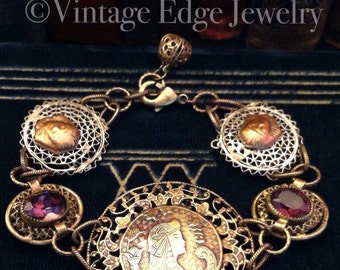 Queen of The Nile Antique Buckle Bracelet