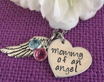 Baby Memorial Gift, Miscarriage Gift, Miscarriage Awareness Jewelry, Mommy of an angel, Miscarriage of baby, Loss of a child
