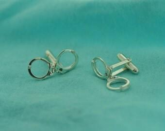 Handcuffs Cufflinks in Sterling Silver