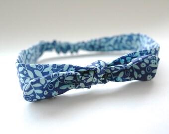Blooming Blue Retro Headband