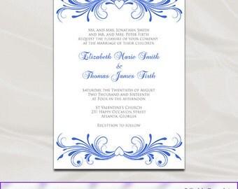 New Wedding Invitations For You Blue Wedding Invitations Templates - Wedding invitation templates: royal blue wedding invitation templates free