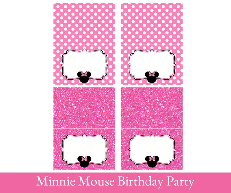 Minnie Mouse Food Tent Cards Minnie Mouse Printable Foldable