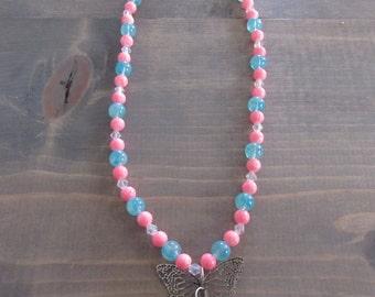 Bubblegum Butterfly Necklace