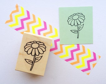 Daisy Stamp, Flower Rubber Stamp - Extras by Alaina