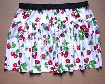 Cherry Ruffle Running Skirt