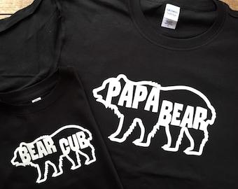 Papa Bear Shirt - Father's Day Shirt / Father Son Shirt / Papa Bear Cub / Father Daughter Outfit / Mens Camping Shirt / Father's Day Gift
