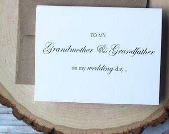 Grandmother thank you card, Grandfather thank you card, To My Grandma Wedding Day Card, My Grandmother, Thank You Card