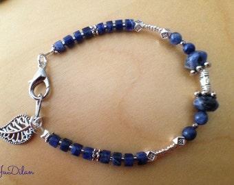 Bracelet Sodalite, 3rd Eye Chakra, 6.
