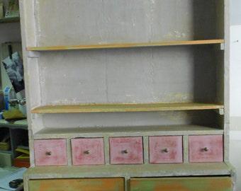 wall cabinet with nine drawers