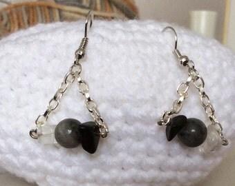 3 Tone Trapeze Earrings