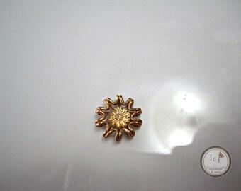 Raw Brass Carved Filigree Brass Round Filigree Findings Brass Round Filigree Raw Brass Filigree Jewelry Supplies 9mm (1pc) 110V7