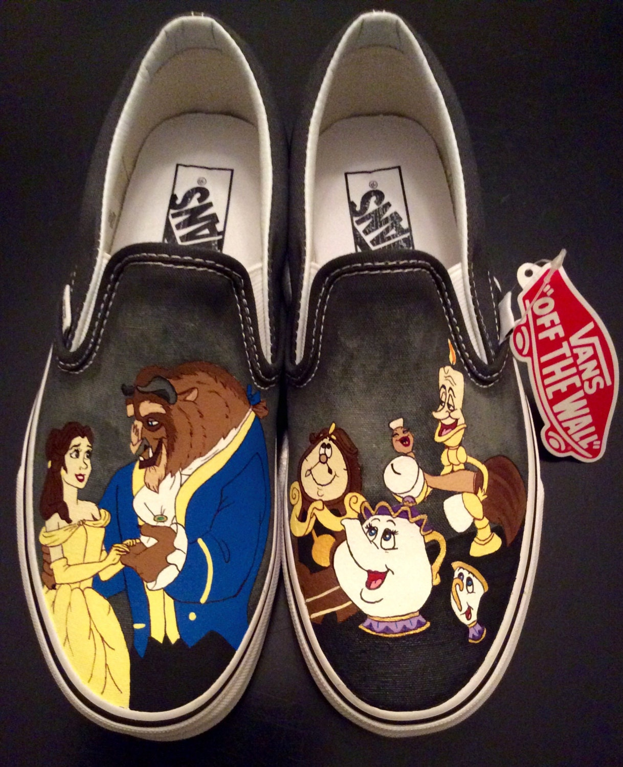 Disney Beauty And The Beast Canvas Shoes Size