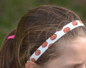 Custom Basketball Gift - Girls Basketball Team Gift - Basketball Headband 3 Pack - Team Colors - Basketball Mom - Basketball Player