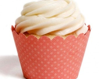 Coral Cupcake Wrapper (Set of 12)