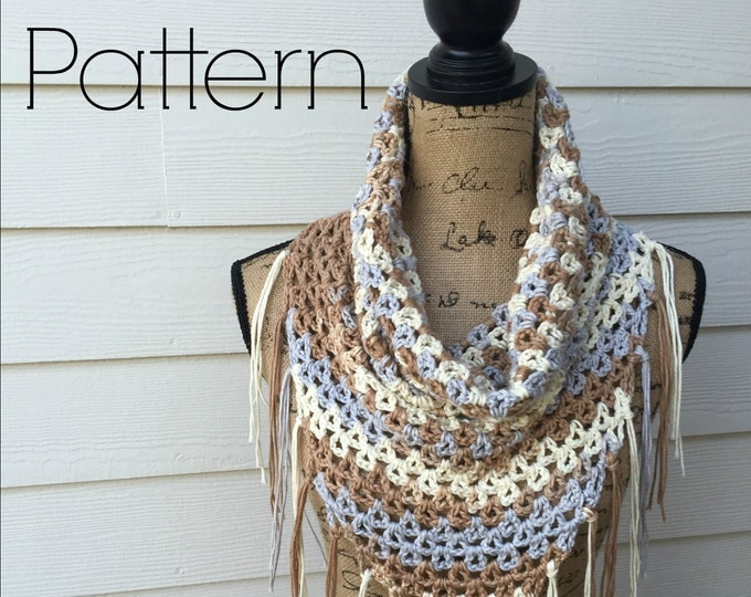 Crochet Cowl Pattern, Nantucket Bay Cowl PATTERN ONLY, Crochet Pattern, Cowl Pattern