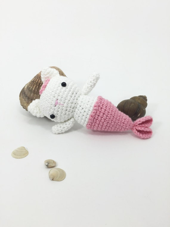 Crocheted MerKitty, Crochet Cat, Crochet Mermaid ...