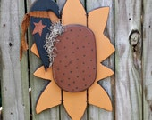 Primitive Sunflower with Crow – Solid Wood – Handmade – OFG, FAAP, HAFAIR, TeamHaHa