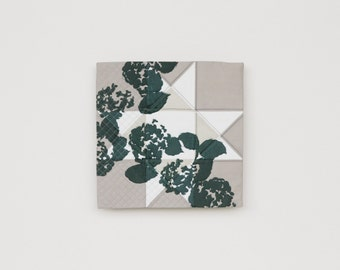 Stone + Bloom : Modern Printed Wall Quilt