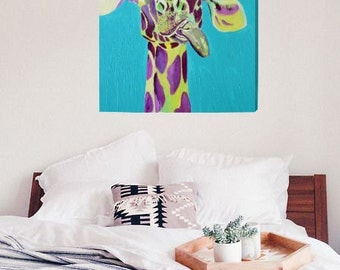 "18"" x 24"" Canvas Print of Dopey the Giraffe"