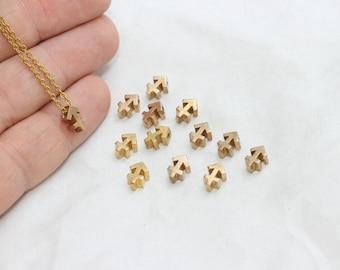5 Pcs Raw Brass Sagittarius Charms, Astrology Charm , Sagittarius Zodiac Sign, Mini Pendant Charms, Sagittarius Necklace, zdc