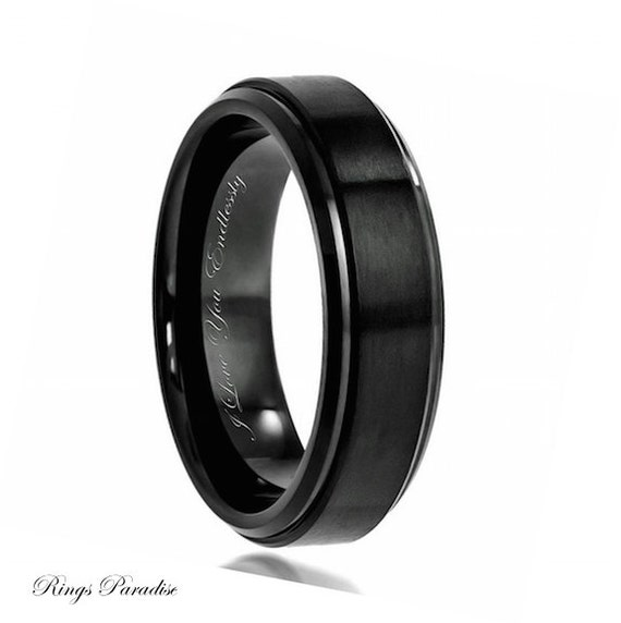 like this item - Black Wedding Rings For Men