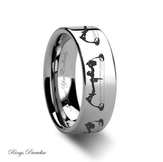 Tungsten Wedding Band Mens Tungsten Ring Unique Engagement