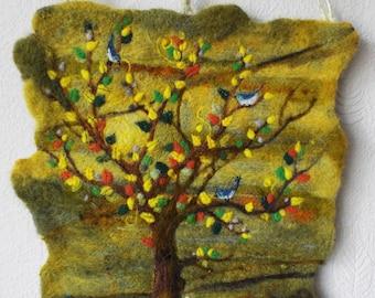 OOAK Needle Felted Art Wall Hanging 'New Day' by Adele Froude