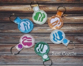 Girl Scout key fob machine embroidery design