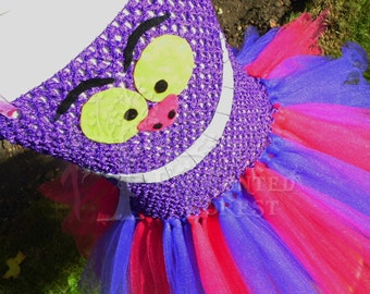 Handmade Cheshire Cat inspired tutu dress.