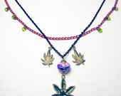 Cannabis Hemp Marijuana Pot Weed Ganja Herb Reefer Super Necklace - PRICE DROP