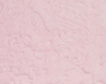 Embossed Paisley Cuddle Baby Pink by Shannon Fabrics