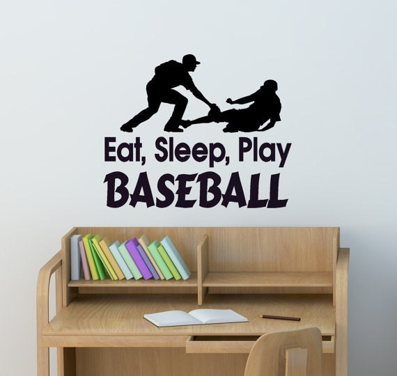 Decorating Ideas > Sports Wall Decal Baseball Wall Decor Quote Sticker Wall Wor ~ 170154_Sports Dorm Room Ideas