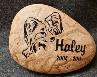 "Any BREED DOG w/Date MEMORIAL Stone 8""  Choice of Dog Breed, Personalized Engraved with Name & Year Dates"