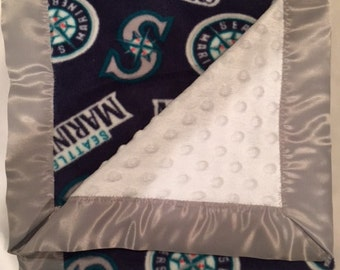 Seattle Mariners Baby Blanket 36 X 36