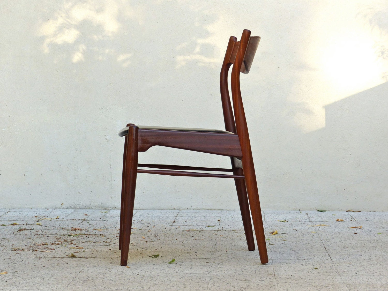 Chaises scandinaves danoise teck et palissandre vintage mid century scandin - Chaise danoise design ...