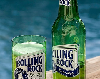 Rolling Rock Beer Bottle Glass - Set of 4
