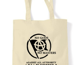 Anarchist Slogan Tote Shopping Bag