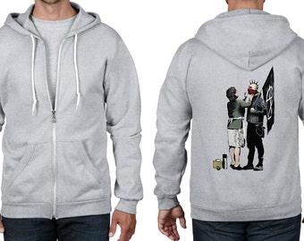 Banksy Punk Mum Full Zip Hoodie