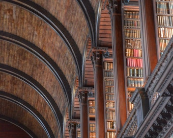 Ireland Photography, Book Photograph, Library Photograph, Book Print, Library Decor, Trinity College, Dublin Photo