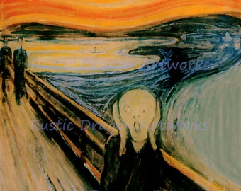"Edward Munch ""The Scream"" 1910 Reproduction Digital Print Screaming Anxiety Wall Hanging"