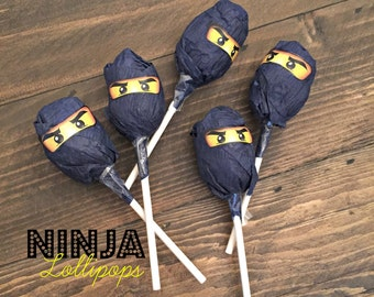 Ninjago Birthday Favor - Ninjago Eyes in 4 Sizes - Ninjago Party Decoration - To stick on balloons, lollipops, favor bags, etc.